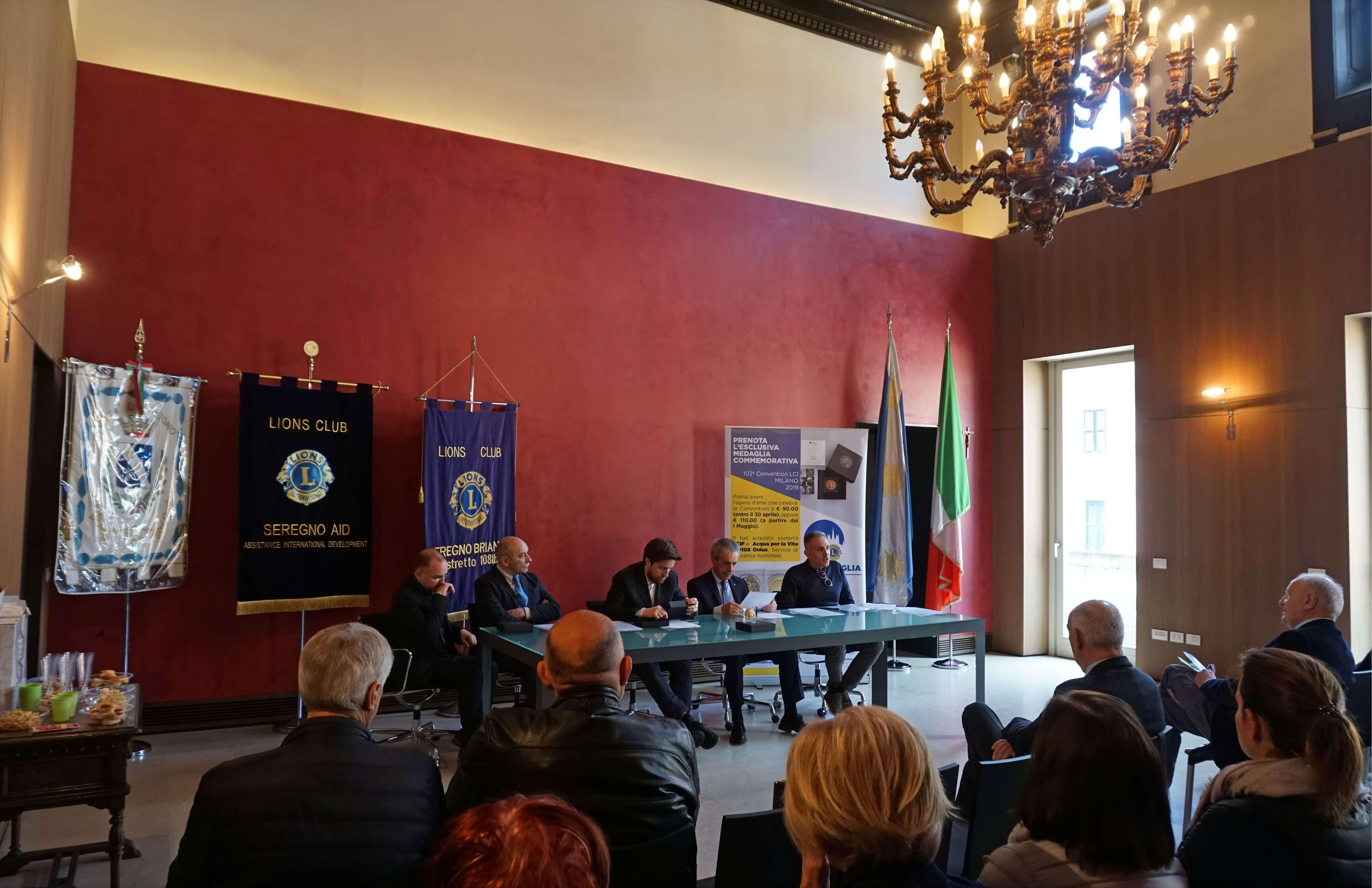 La conferenza stampa di presentazione della medaglia a Seregno