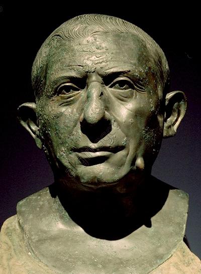 Espressivo ritratto bronzeo del banchiere pompeiano Lucius Caecilius Iucundus
