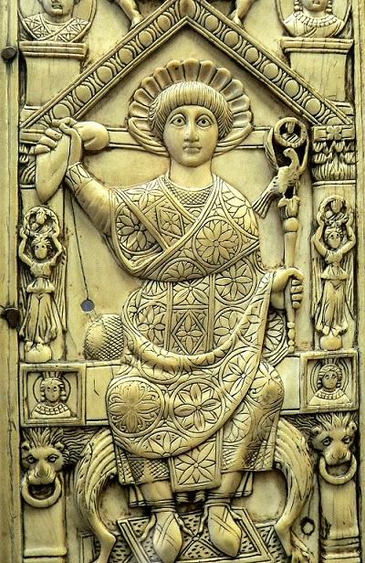 Sportello del dittico di Flavio Anastasio (517). Parigi, Bibliothèque Nationale de France