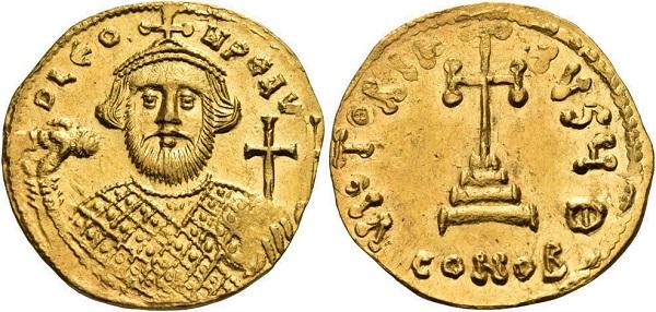 Solido di Leonzio. Oro, gr 4,34; mm 20; h 6