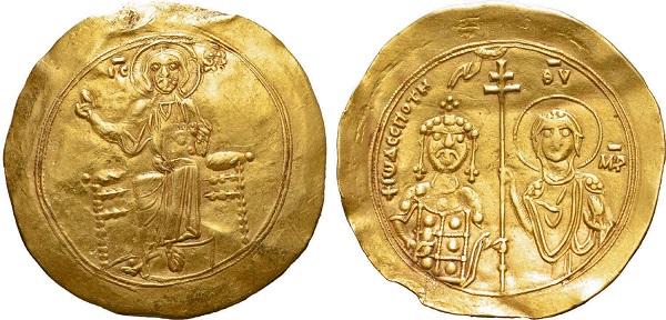 Hyperpyron di Giovanni II Comneno. Oro, gr 4,38; mm 30; h 5