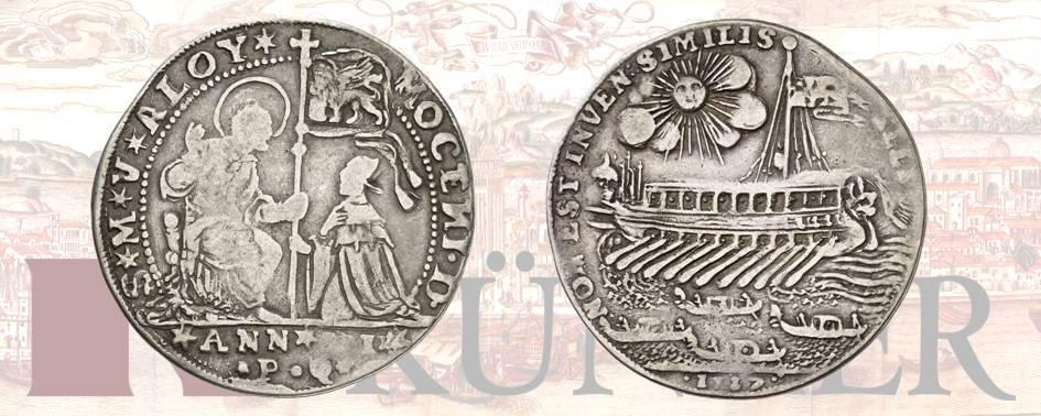 Alvise III Mocenigo, 1722-1732, Osella, anno VI (1727). Dall'asta Kuenker 322 ( 24/25 giugno 2019), numero 1640