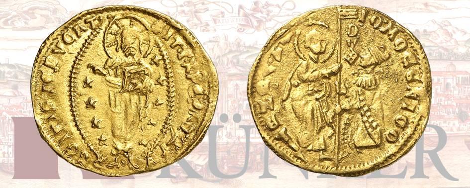 Giovanni Mocenigo, 1478-1485, Ducato, ND. Dall'asta Kuenker 324 (27 giugno 2019), numero 3154