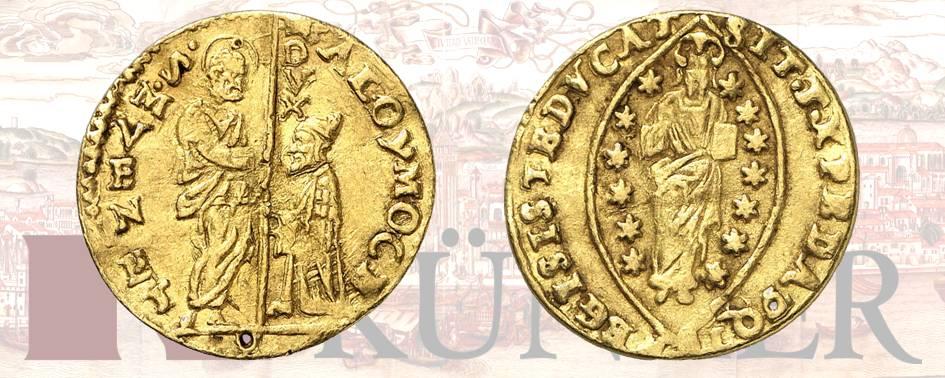 Alvise I Mocenigo, 1570-1577, Zecchino, ND. Forellino. Dall'asta Kuenker 324 (27 giugno 2019), numero 3165