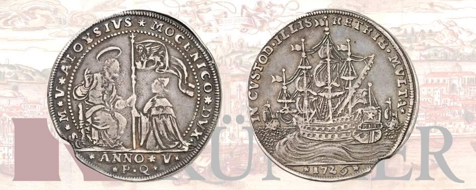 Alvise III Mocenigo, 1722-1732.Osella, anno V (1726). Dall'asta Kuenker 322 (24 / 25 giugno 2019), numero 1639