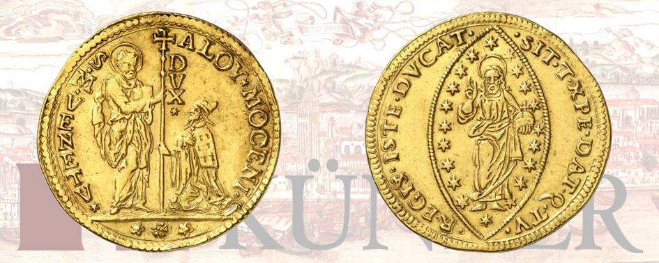Alvise II Mocenigo, 1700-1709. 10 zecchini ND. Dall'asta 324 (27 giugno 2019), numero 3176