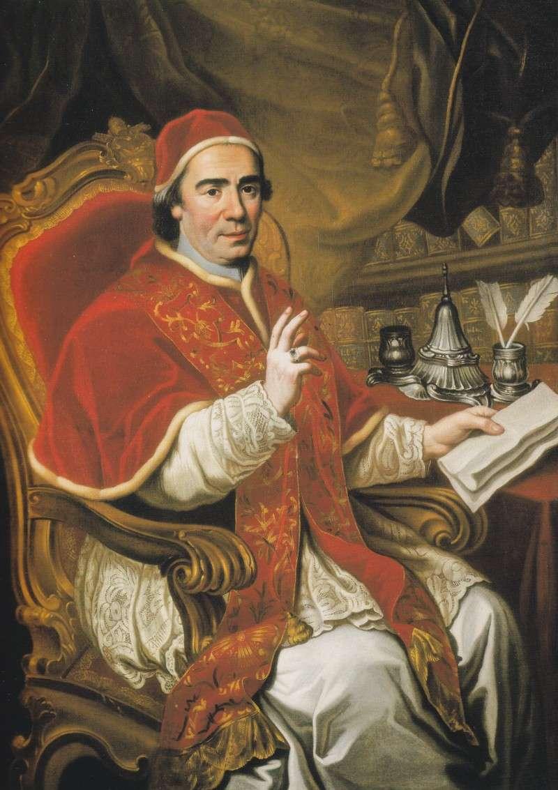 """""""Ritratto di papa Clemente XIV"""" di anonimo autore (1773, collezione privata)"""