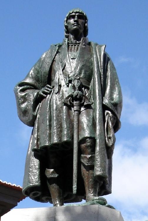 Monumento a João Gonçalves Zarco, uno degli scopritori di Madeira nel 1519