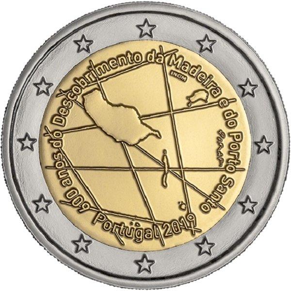 Ecco la faccia nazionale dei 2 euro portoghesi emessi il 6 giugno scorso per Madeira