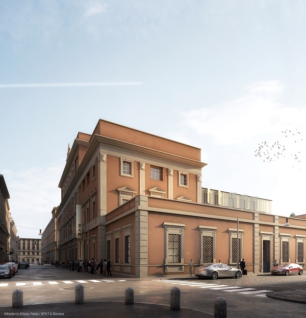 Il palazzo di Via Principe Umberto: rendering dell'esterno