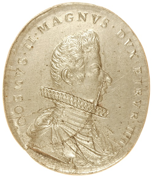 Dritto della medaglia di Gaspare Mola con ritratto di Cosimo II de' Medici, granduca di Toscana