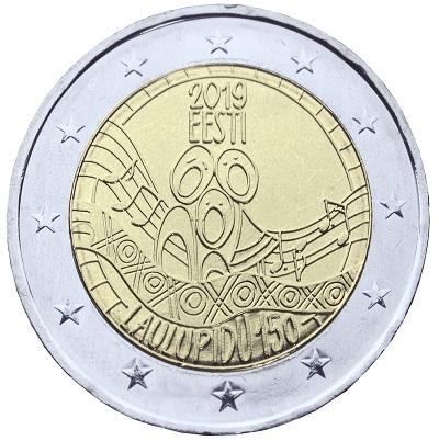 """La prima immagine dei nuovissimi 2 euro """"canterini"""" diramata dalla Eesti Pank"""