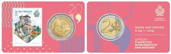 La Guaita che svetta sul francobollo da 1,00 euro abbinato alla bimetallica di normale circolazione