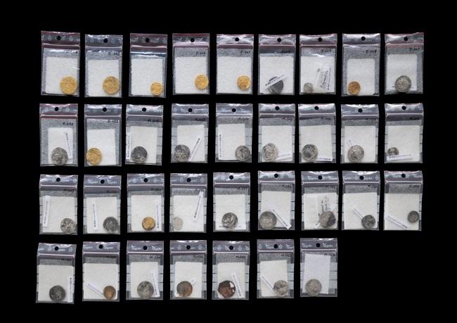 I 34 esemplari, di cui dieci in oro, accuratamente classificati dall'Inarp