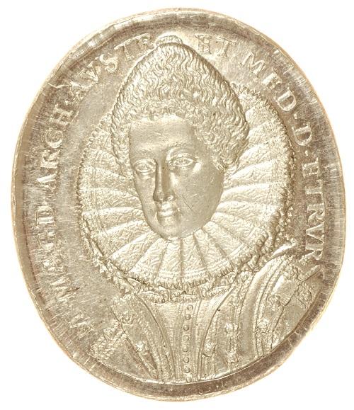 Rovescio della medaglia di Gaspare Mola con ritratto della consoret di Cosimo II: un capolavoro di incisione del XVII secolo