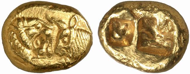 Lidia, statere di Creso risalente al periodo 561-546 a.C. (elettro, g 8,03)