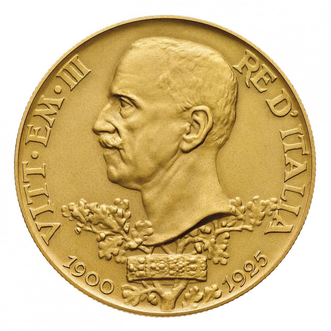 Dal catalogo Bolaffi, anche una pressochè perfetta 100 lire Vetta d'Italia in edizione PROVA