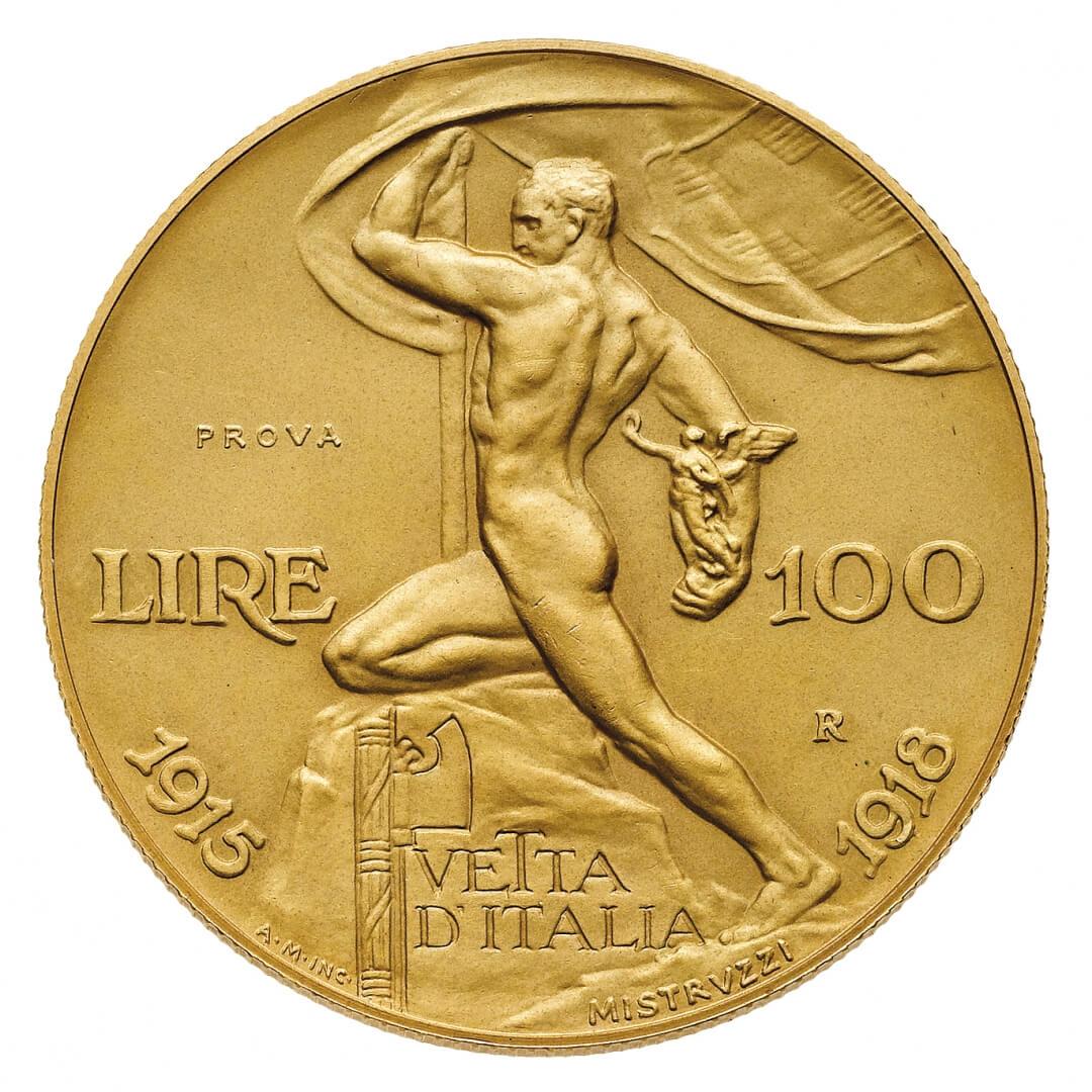 Modellata da Aurelio Mistruzzi, questa 100 lire è un capolavoro assoluto della numismatica del XX secolo