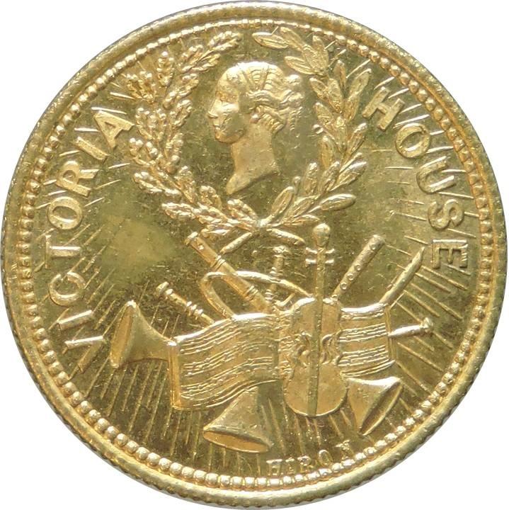 Un gettone da ballo vittoriano... e dedicato alla stessa regina Vittoria