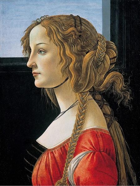 Ritratto postumo di Simonetta Cattaneo Vespucci eseguito dal Botticelli