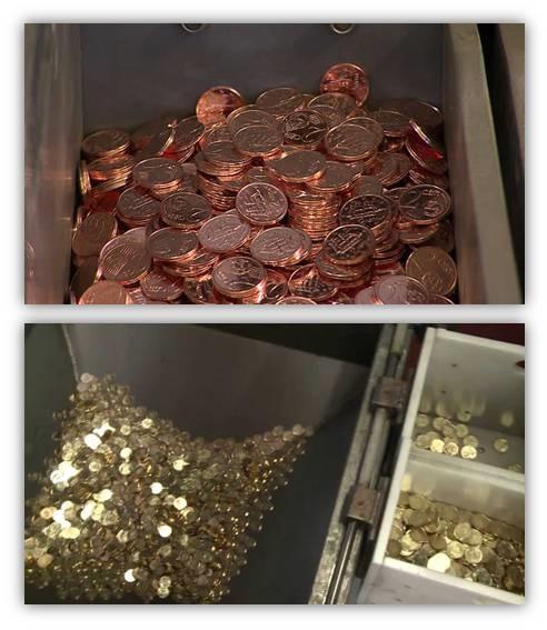 Negli ultimi anni si è ridotta (per alcune zecche azzerata) la produzione di monete da 1, 2 e 5 euro cent; per contro è aumentata quella di tagli intermedi da 10, 20 e 50 euro cent