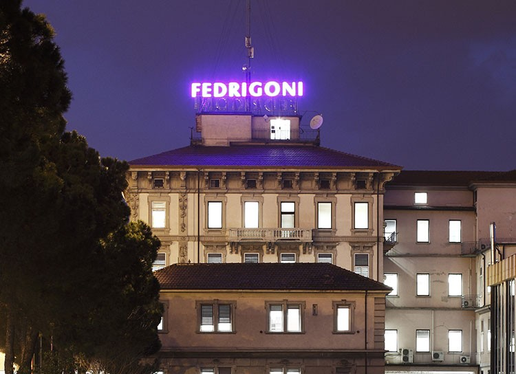La sede di Fabriano delle cartiere Miliani Fedrigoni