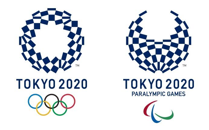 I loghi dei Giochi olimpici e paralimpici di Tokyo 2020: entrambe le manifestazioni avranno come premi per gli atleti medaglie eco sostenibili