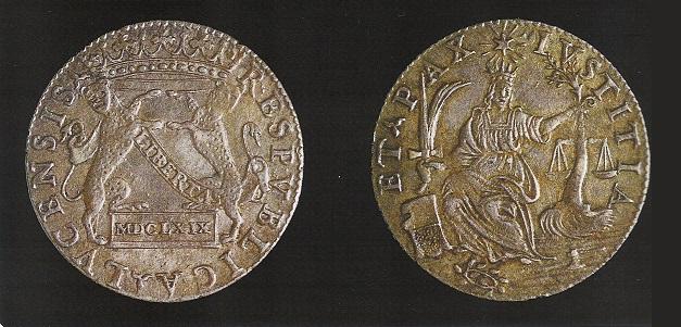 Lucca – Barbone del 1669 (Ag, g 3,32 mm 24, Cni 696)