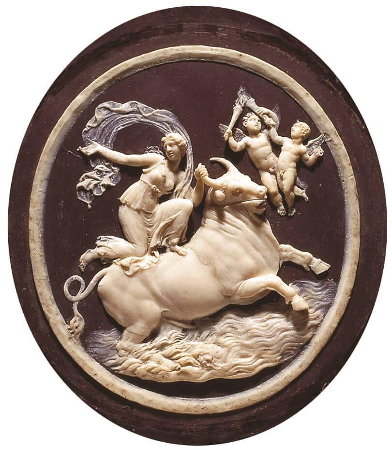 """""""Europa e il toro"""", uno dei tanti piccoli capolavori del grande Benedetto Pistrucci (Roma 1784 - Windsor 1855)"""