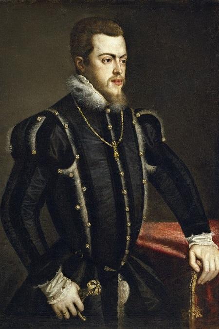 "Tiziano Vecellio, ""Retrato de Felipe II"", circa 1549-1550"