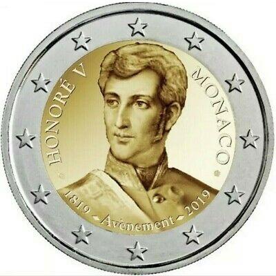 La bimetallica monegasca dedicata ai due secoli dall'ascesa al trono di Honoré V Grimaldi, poi regnante fino al 1841