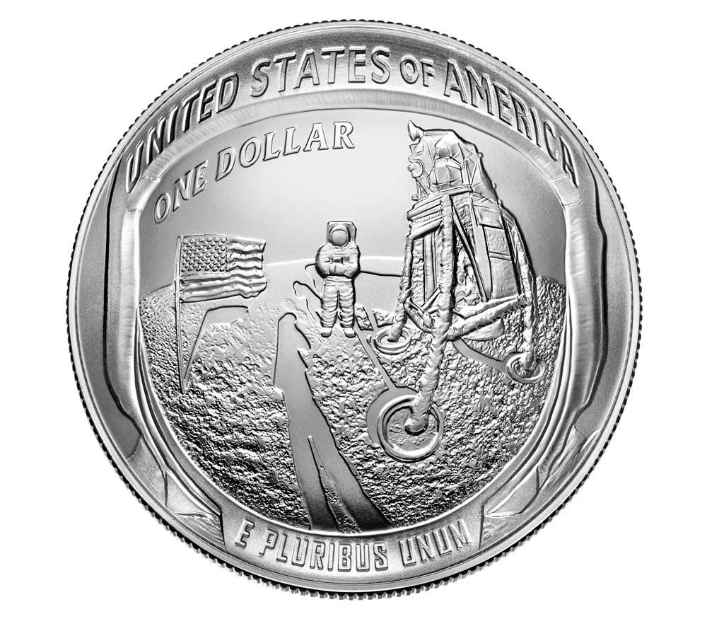 Il dollaro in argento (dritto a curvatura convessa)
