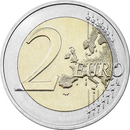 La faccia comune dei 2 euro