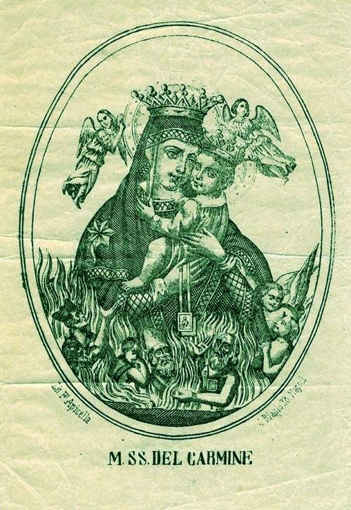 """La versione """"ufficiale"""" della Madonna SS. del Carmine venerata a Napoli, come sarebbe potuta apparire sui 3 carlini della Repubblica Napoletana del 1447-1648"""