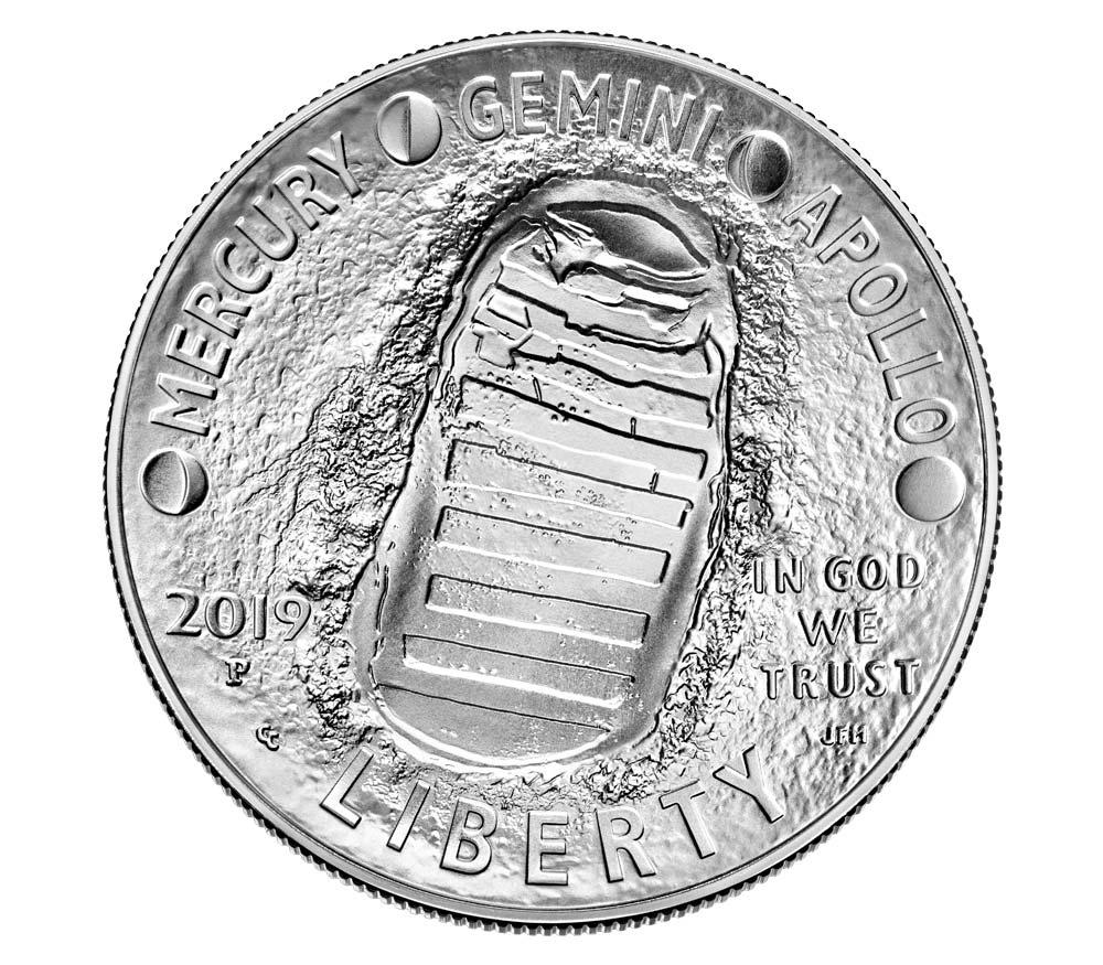 Il dollaro in argento (rovescio a curvatura concava)