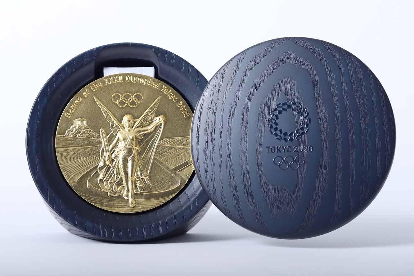 Frassino giapponese per contenere le medaglie eco sostenibili della XXXII Olimpiade di Tokyo 2020: tutto sotto il segno dell'ambiente, anche gli accessori e il packaging