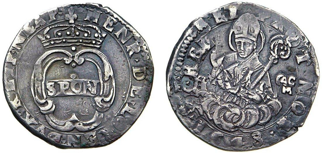 I rari 15 grana in argento (g 4,92) coniati a Napoli inel 1648 con l'effigie di san Gennaro