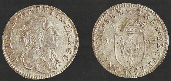 Lucca – Luigino del 1668 (Mi, g 1,79 mm 21, Cammarano 193)