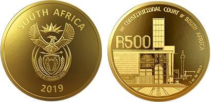 I 500 rand in oro, la moneta più preziosa emessa quest'anno dal Sudafrica per commemorare i 25 anni di democrazia costituzionale iniziati con le libere elezioni a suffragio universale del 1994, le prime nella storia del paese