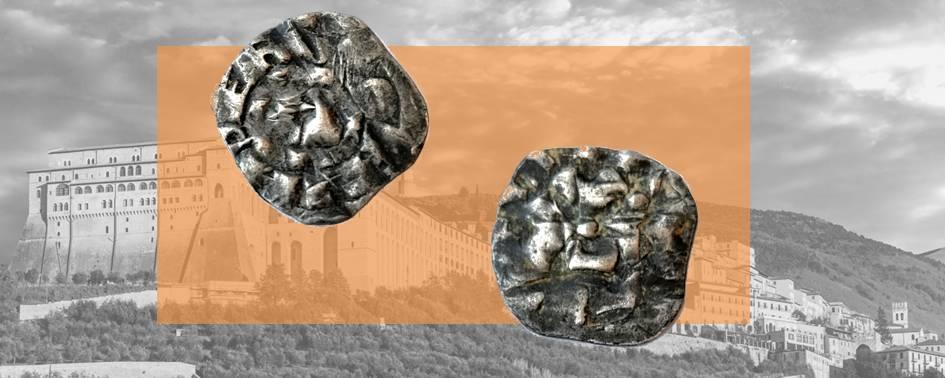 """Denaro lucchese di tipo """"enriciano"""" simile ai dodici rinvenuti nel 1818 nella tomba del Poverello di Assisi"""