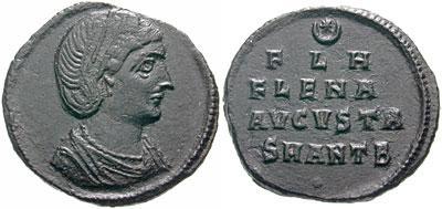 Antiochia – Follis a nome di Elena (324-325 d.C.) madre di Costantino I (Ae mm 20,35 g 2,04)
