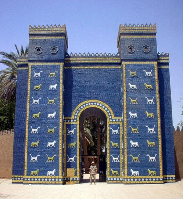 La porta di Ishtar nell'odierna Baghdad