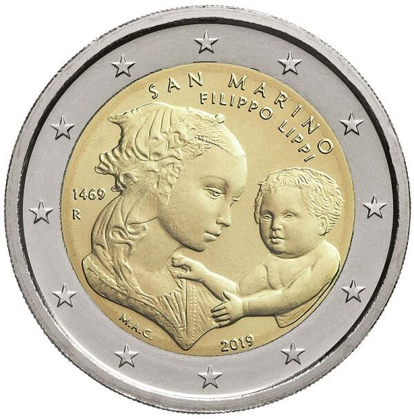 Ecco la splendida faccia nazionale dei 2 euro per Filippo Lippi voluti dal Titano e modellati da Maria Angela Cassol