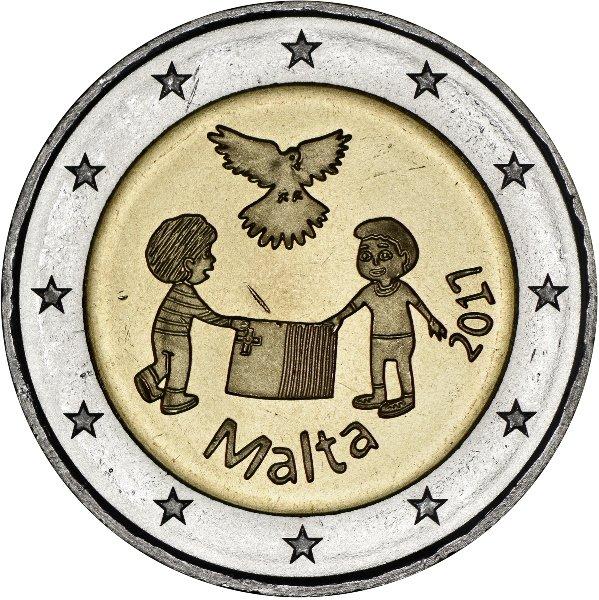 """""""From Children with Solidarity"""" 2017: due bambini e la bandiera maltese sotto le ali protettrici della colomba della pace"""
