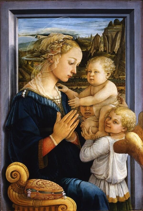 """""""Madonna col Bambino e due angeli"""" di Filippo Lippi, 1460-1465. Un capolavoro del Rinascimento oggi agli Uffizi"""
