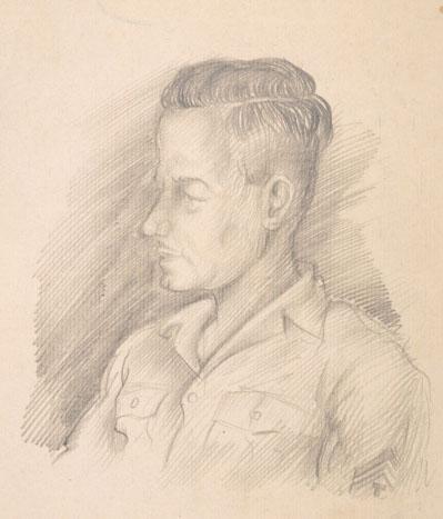 Autoritratto di William Marks Simpson, auitore dei bozzetti e dei modelli della moneta