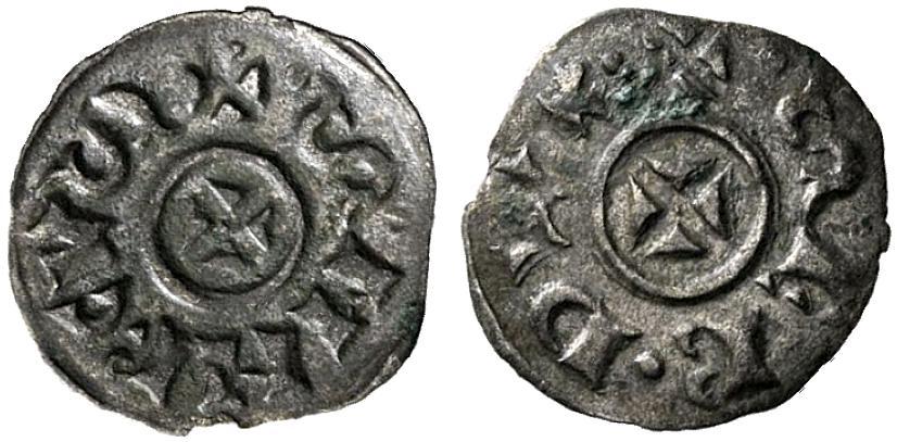 Deanro scodellato in argento del doge Sebastiano Ziani coniato fra il 1172 e il 1178