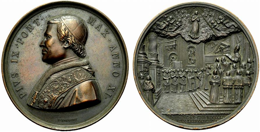 L'annuale di Pio IX del 1856 coniata in bronzo: nessun dato sugli esemplari battuti