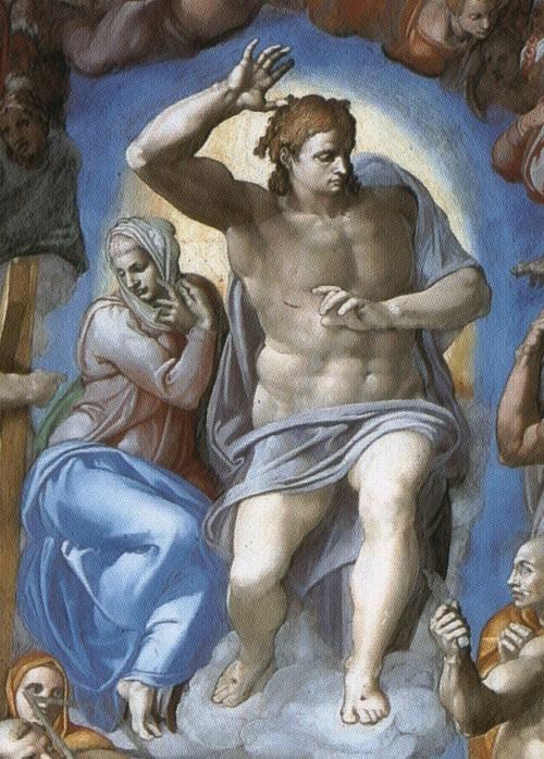 """""""Cristo e la Madonna"""" dal """"Giudizio universale"""" della Sistina"""