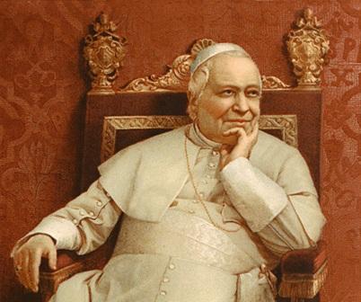 Un meditabondo Pio IX nel dettaglio di un suo celebre ritratto